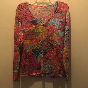 Lilly Pulitzer Etta long sleeved top. Size Large